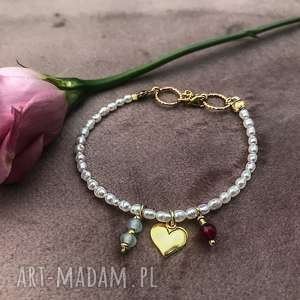 handmade bransoletka z perłami