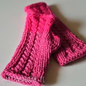rękawiczki mitenki, rękawiczki, na-dłonie, na-jesień, na-drutach, wełniane