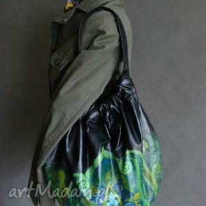 handmade na ramię torba hobo - ręcznie malowana