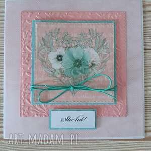 kartka kwiatowa dla mamy 3, mama, urodziny, sto lat, kwiaty