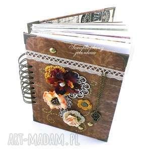 notes - pamiętnik retro, notes, pamiętnik, książka, kwiaty, vintage, prezent