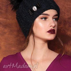 czapka z kokardą - czapka, akcesoria, dodatki, kasiamiciak, wełna