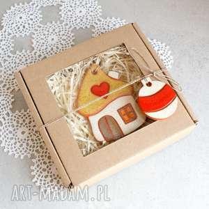 ozdoby świąteczne domek - ozdoba świąteczna, zawieszka, choinka, ozdoba, świąteczna