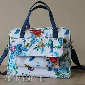 torba miejska - niebieskie kolibry, wakacje, prezent, pakowna