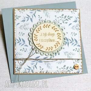 handmade kartki i żyli długo szczęśliwie - kartka ślubna