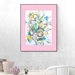 minimalistyczna grafika na ścianę, oryginalna abstrakcja, abstrakcyjny rysunek