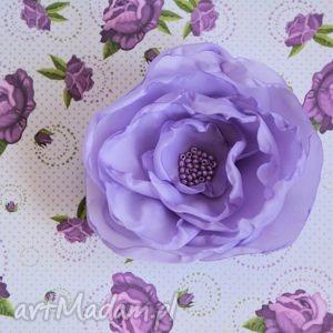 broszka - słodka prowansja, róża, broszka, lawenda, przypinka, francja