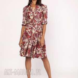 Uniwersalna sukienka z delikatną stójką, SUK155 wzór, stójka, casual
