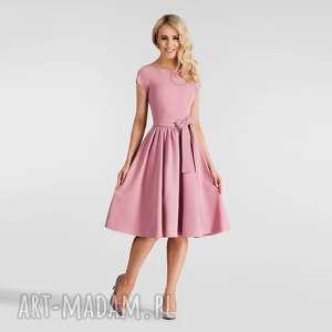 hand-made sukienki sukienka marie midi brudny róż