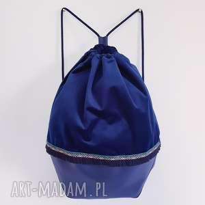plecak worek boho etno turkusowy - ,plecak,worek,aksamit,boho,etno,frędzelki,