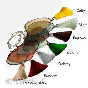 naszyjnik z naturalnym liściem -kolory - naszyjnik z liści, liść naszyjnik
