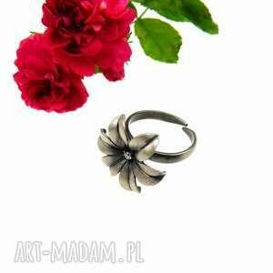 pierścionek srebrny - hiacyntowy, pierścionek, prezent, dla niej, biżuteria