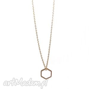Naszyjnik sześcian, łańcuszek, minimalistyczny, kwadrat, wielokąt, naszyjnik, boho