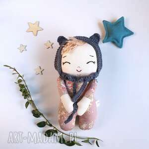 Lalka leśny skrzat -róża lalki madika design bobas, skrzat
