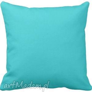 Poduszka ozdobna dekoracyjna niebieska gładka 6573 poduszki