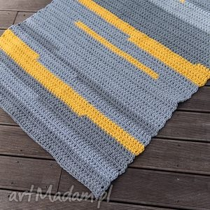 dywan, dekoracja, chodnik, sznurek, bawełna, szydełko