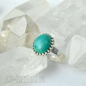 pierścionki pierścień z turkusem naturalnym