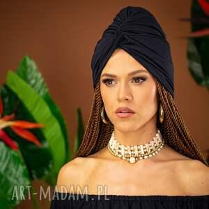 handmade ozdoby do włosów turban - black