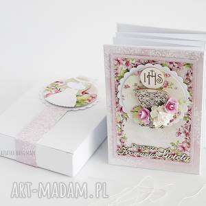 wyjątkowy prezent, album harmonijka komunijny, album, komunia, leporello