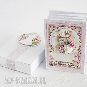 vairatka-handmade album harmonijka komunijny - na zdjęcia, pamiątka