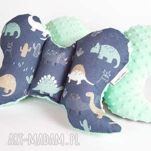 poduszka podróżna motylek - minky dinozaury, poduszka, motylek, zagłówek