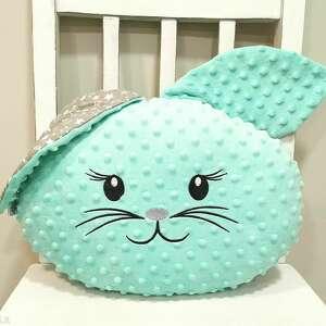 pokoik dziecka poduszka królik z uszami, do sypialni, uszami