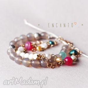 *India*, kamienie, naturalne, agat, howlit, perły