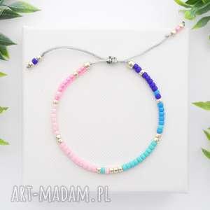 bransoletka koralikowa minimal - colorful, bransoletki, koralikowe, modna