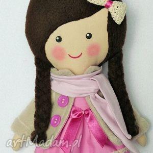 malowana lala luiza z szalikiem, lalka, zabawka, przytulanka, prezent, niespodzianka