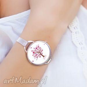 ręcznie robione zegarki zegarek, bransoletka - drzewo miłości serce