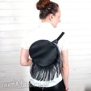 godeco plecak z frędzlami, plecak, koło, frędzle, desing, boho, oryginalny