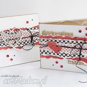 hand-made scrapbooking kartki folder cd i kartka walentynkowa