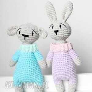 Króliczek grzechotka z imieniem dziecka, maskotka, królik, króliczek, miś