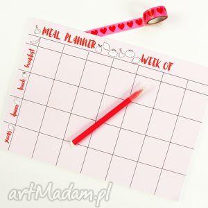 Tygodniowy planer posiłków, Menu na tydzień, Notes A4, planer, menu, notes, a4, plan