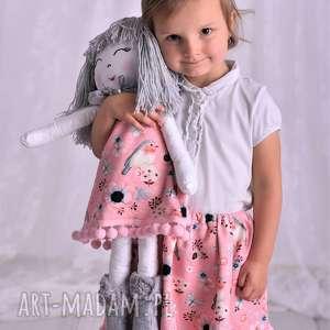 ręcznie zrobione lalki lalka szmacianka w szarych włosach