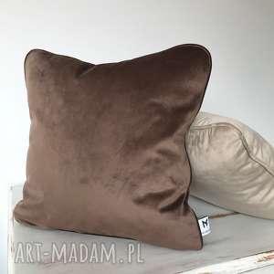 Poduszka Velvet Mocca, poduszki, welwet, aksamit, wypustka