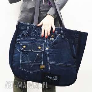 duża torba upcykling jeans 25 g-star, upcykling, jeans