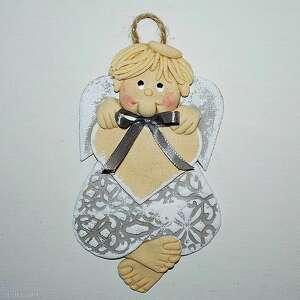 pokoik dziecka pamiątka dla oskara - anioł z dedykacją, aniołek, masa solna