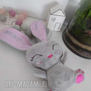 grzechotka króliczek, kroliczek, narodziny dla dziecka, prezent na święta
