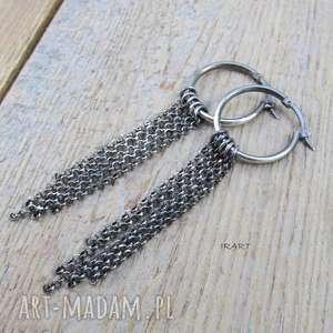 koła z łańcuszkami - kolczyki, kolczyki srebrne, ze srebra