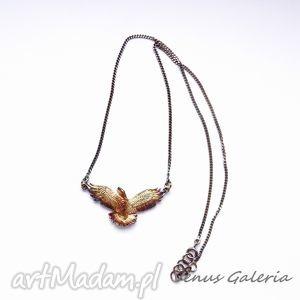 Naszyjnik - Orzeł brązowy, biżuteria, srebro, naszyjnik