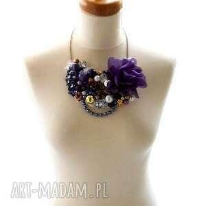 violet voltage naszyjnik handmade - naszyjnik, fiolet, fioletowy, purpura