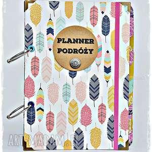 ręcznie wykonane scrapbooking notesy planner podróży personalizowany