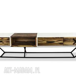 Szafka San-Ki rtv 240- Orzech Biel, nowoczesny, industrial, salon, loft, rtv, drewna