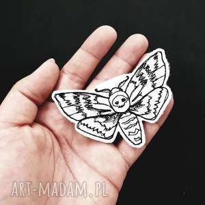 naszywka moth - ,ćma,naszywka,haft,haftowana,filcowa,