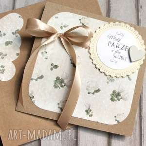 kartki kartka ślubna handmade rosarium cream, ślub, ślubna