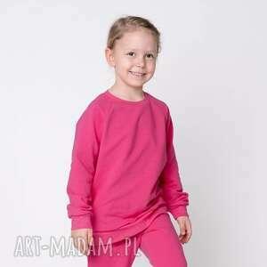 bluza dresowa amarantowa, basic, gładka, dla dziecka
