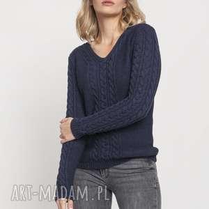 mkm swetry klasyczny sweterek, swe186 jeans mkm, sweter, klasyczny