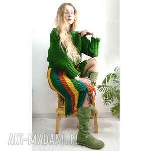 kolorowa spódnica z frędzlami, spódnica, spódniczka, frędzle, kobieca, unikatowa