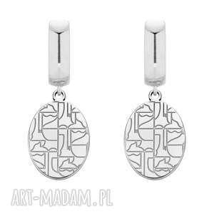 sotho srebrne kolczyki art n°1 - duże, srebro, bigle